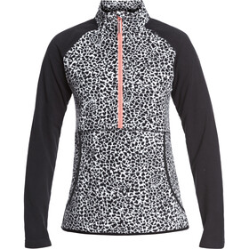 Roxy Cascade Fleece Oberteil Damen true black pop animal